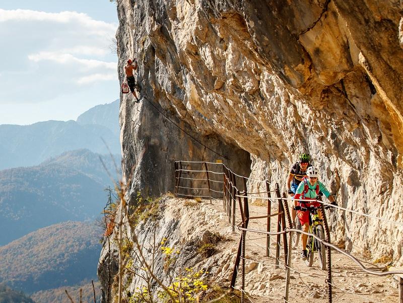 Die Ewige Wand ist ein Abschnitt des Mountainbike Soft Trails