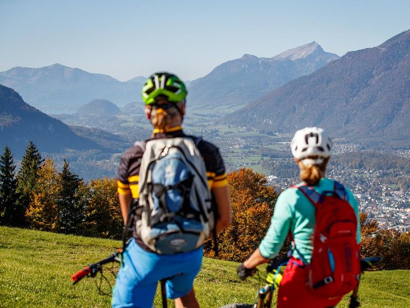 Panoramablick auf Bad Goisern auf der Mountainbike Soft Trail Tour
