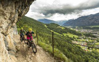 Die Ewige Wand in Bad Goisern, ein Highlight auf der Mountainbiketour Dachsteinrunde (Foto: Andreas Meyer)