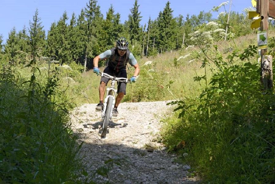 Mountainbike Rennen auf den Feuerkogel im Salzkammergut