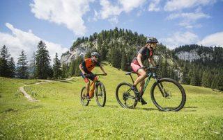 Zwei Mountainbiker auf einer der vielen Moutnainbiketouren im Salzkammergut (Foto: KTM)