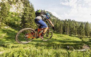 Mountainbiker fährt durch die Natur (Foto: Andraes Meyer)