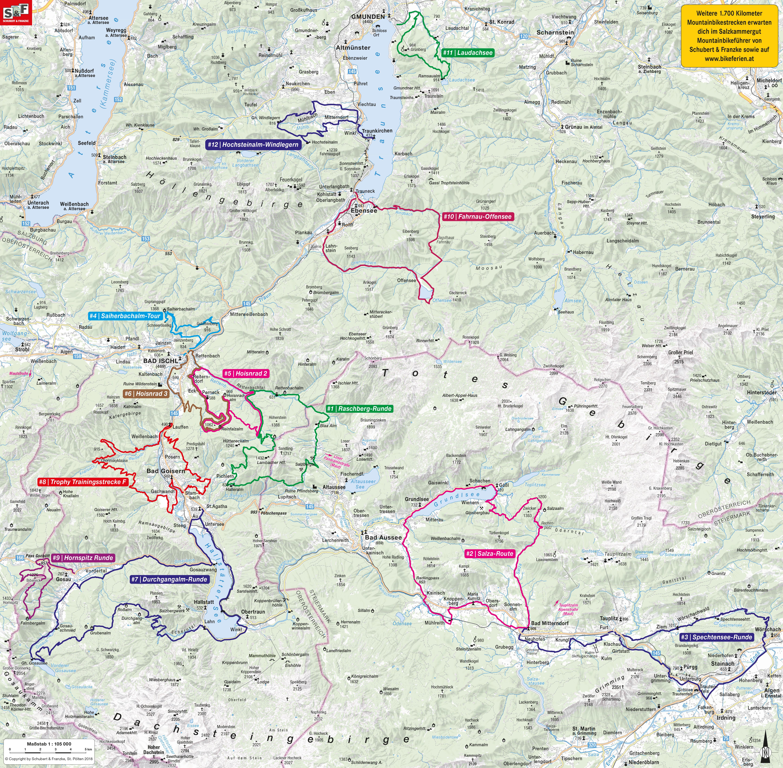 Salzkammergut Karte.Mountainbikekarten Fur Deine Biketouren Salzkammergut